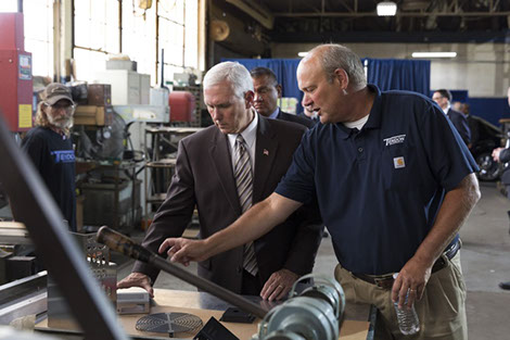 Tendon Manufacturing Cleveland, Ohio Welcomes Vice President Pence for visit on June 28 2017